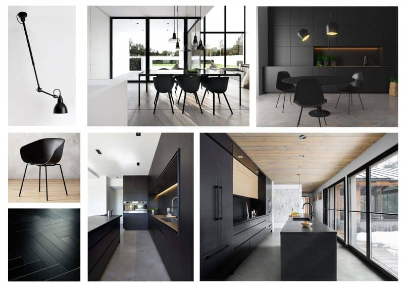 contemporary kitchen moodboard